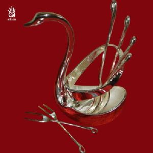 Silver Plated Duck Shaped Fork Stand