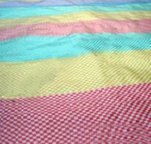 HDPE & PP Striped Woven Fabric