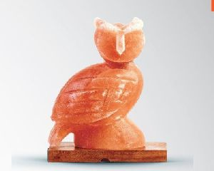 Himalayan Salt Figure Shaped Owl Lamp