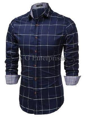Mens Casual Check Shirt 02