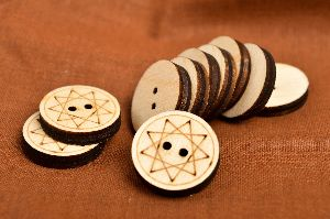 Wood Blank Buttons