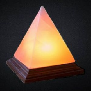 Pyramid Shaped Crafted Himalayan Salt Lamp