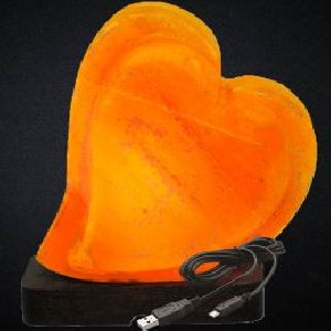 Smart USB Heart Shaped Himalayan Salt Lamp