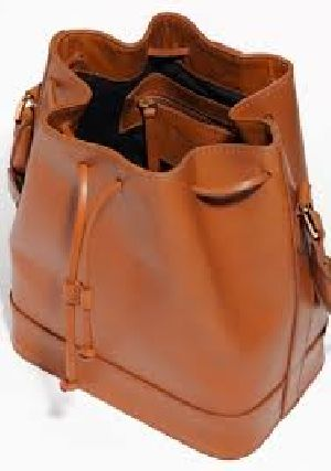 Drawstring Leather Bags
