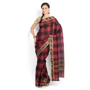Checked Cotton Saree