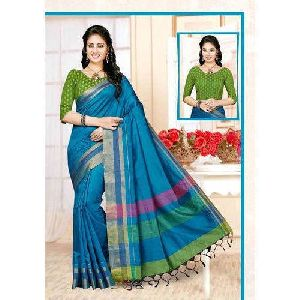 Plain Chettinad Saree