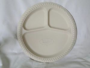 Biodegradable 10 Inch 3 Cp Round Plate