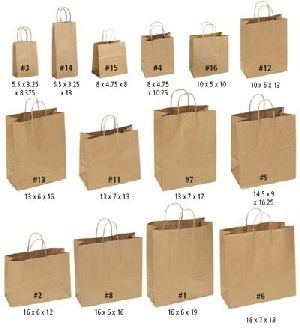 Brown Paper Shopping Bag 04