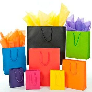 Colored Paper Shopping Bag 01