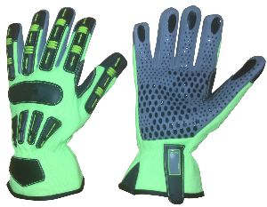 Cut 5 Gloves / Cut 5 TPR Mechanic Gloves for Oil and Gas Industries, Non-Slip Gloves / Impact Gloves