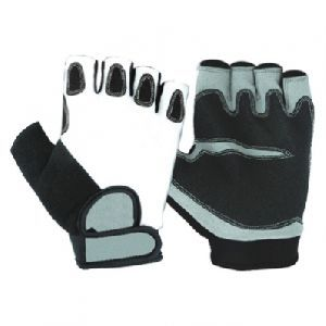 Bike Gloves, Synthetic Leather Bike Gloves / Safety Gloves, Racing Gloves / Lycra Cycle Gloves