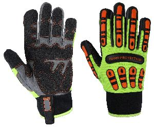 Cut 5 Gloves / Cut 5 TPR Mechanic Gloves for Oil and Gas Industries / Best Quality Impact Gloves, Non-Slip Gloves