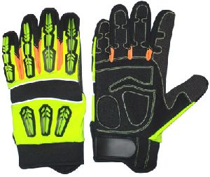 Non-Slip Work Gloves / Impact Protection Mechanic Gloves for Oil and Gas Industries / Safety Gloves for Oil Industries