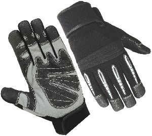 Mechanical Safety Gloves in Synthetic Leather / Mechanic Gloves / Industrial Workmanship Safety Glove