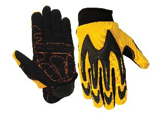 Impact Protection Mechanic Gloves for Oil & Gas field Industries / Anti Vibration Gloves / Mechanic Gloves for Pneumatic tools