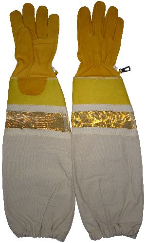 Premium Quality Beekeeping Gloves in Buffalo Leather / Bee Keepers Protective Gloves / High Quality Beekeeping Gloves