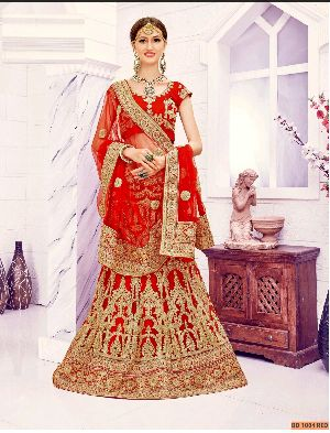 BD 1004 Red Collection Bridal Lehenga Choli