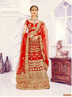 BD 1005 Red Collection Bridal Lehenga Choli