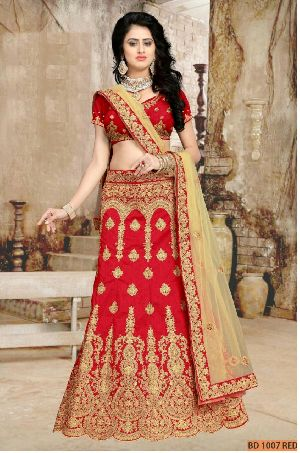 BD 1007 Red Collection Bridal Lehenga Choli