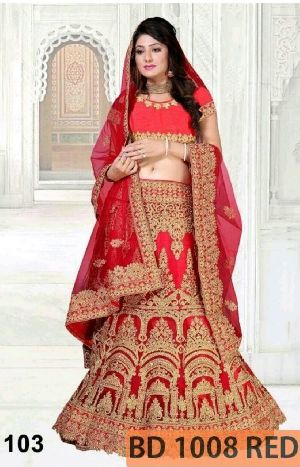 BD 1008 Red Collection Bridal Lehenga Choli