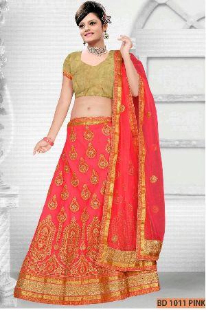 BD 1011  Pink Collection Bridal Lehenga Choli