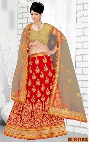 BD 1011 Red Collection Bridal Lehenga Choli