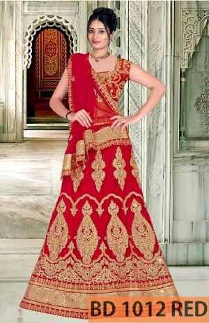 BD 1012 Red Collection Bridal Lehenga Choli