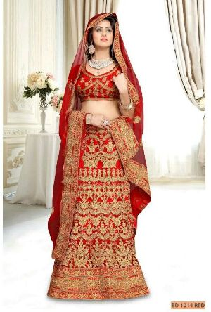 BD 1014 Red Collection Bridal Lehenga Choli
