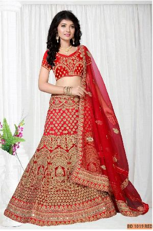 BD 1019 Red Collection Bridal Lehenga Choli