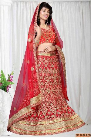 BD 1020 Red Collection Bridal Lehenga Choli