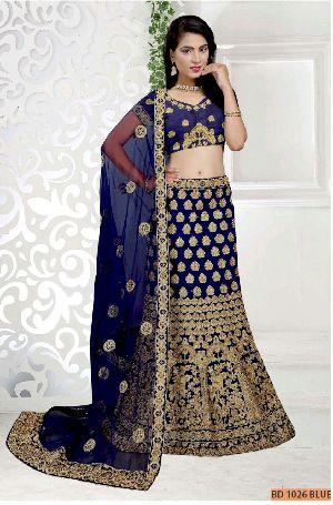 BD 1026 Blue Collection Bridal Lehenga Choli