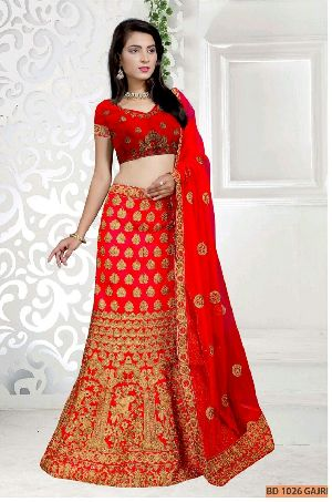 BD 1026 Gajri Collection Bridal Lehenga Choli
