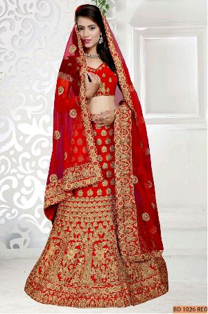 BD 1026 Red Collection Bridal Lehenga Choli