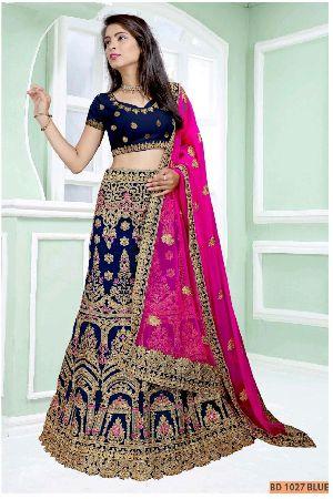 BD 1027 Blue Collection Bridal Lehenga Choli