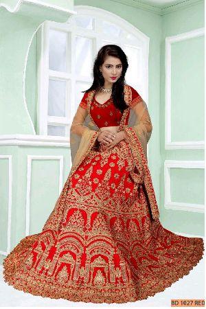 BD 1027 Red Collection Bridal Lehenga Choli