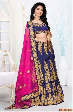 BD 1028 Blue Collection Bridal Lehenga Choli