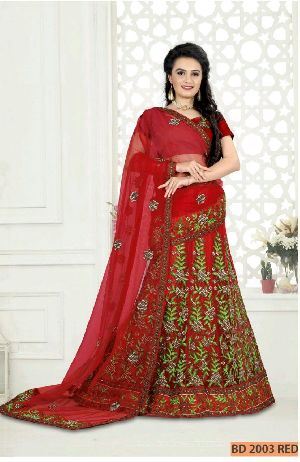 BD 2003 Red Collection Bridal Lehenga Choli