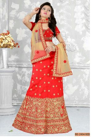 BD 2004 Red Collection Bridal Lehenga Choli