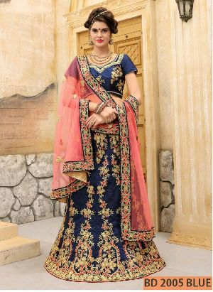 BD 2005 Blue Collection Bridal Lehenga Choli