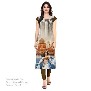 K-27 Bahubali Fort Cotton Kurti
