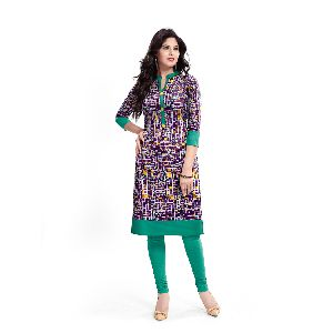 K-41 Panchhi Purple Cotton Kurti