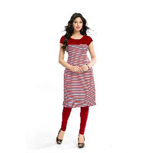 K-49 Harley Red Cotton Kurti