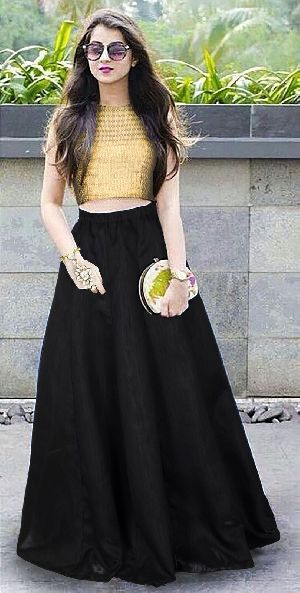 L-48 Shagun Black Regular Lehenga