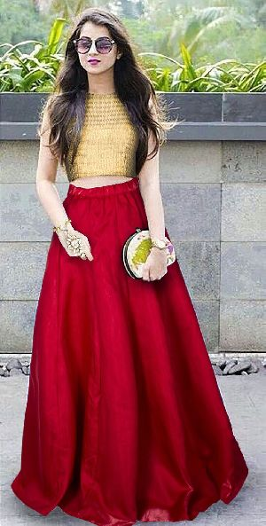L-49 Shagun Red Regular Lehenga