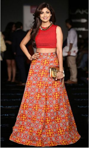 L-51 Fire Red Regular Lehenga