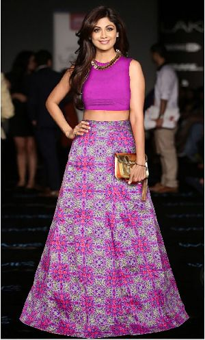 L-52 Fire Purple Regular Lehenga