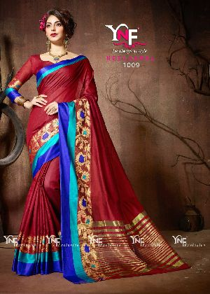 Neelkamal 1009 Cotton Silk Saree