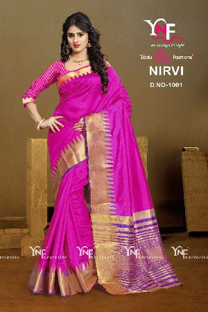 Nirvi 1001 Cotton Silk Saree