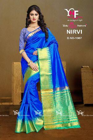 Nirvi 1007 Cotton Silk Saree