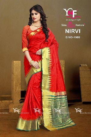 Nirvi 1008 Cotton Silk Saree